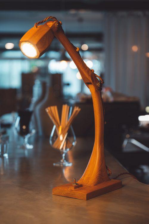 Vintage Wooden LED Lamp